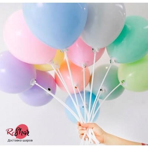 """Воздушные гелиевые шары под потолок """"Макарунс"""" Ассорти пастель"""