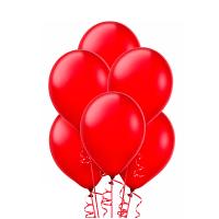 Воздушный шар красный, металлик.