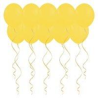 Шары под потолок с гелием Жёлтые «Пастель»