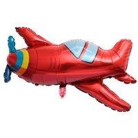 Шар (38''/97 см) Фигура, Самолет, Красный