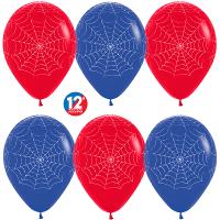 Воздушные шары с гелием человек паук с рисунком «Паутина», 30см