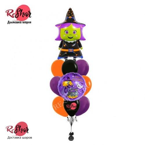 Гелиевые шары Хэллоуин Ведьмочка № 730