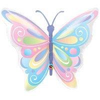Воздушный шар с гелием фигура Бабочка пастель 100см