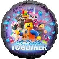 Шар круг LEGO персонажи, 46см