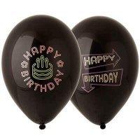 Воздушные шары с гелием с надписями Happy Birthday party, 36см