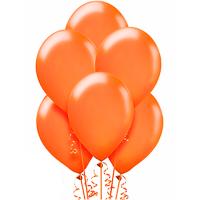 Воздушный шар Оранжевый металлик