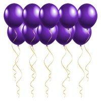 Шары под потолок с гелием Фиолетовые «Пастель»