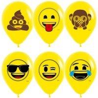 Воздушные шары с гелием с рисунком «Озорные эмоции»