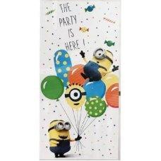 Баннер на дверь Миньоны шарики, 75*150см