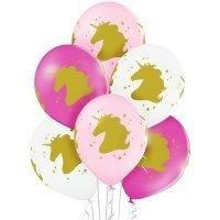 Воздушные шары с гелием с рисунком «Голова Единорога»