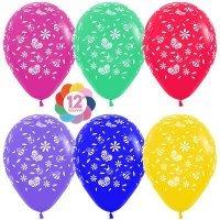 Воздушные шары с гелием с рисунком «Летнее ассорти»