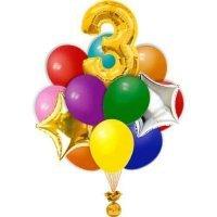 Композиция из шаров «На день рождения» №504 (Цифра на выбор)
