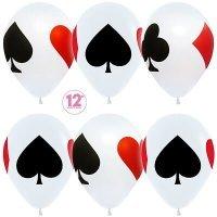 Воздушные шары с гелием с рисунком «Карточная Масть»