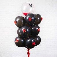 Композиция из воздушных шаров «Чёрная страсть» №69