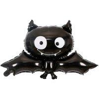 Фольгированный шар (34''/86 см) Фигура, Летучая мышь, Черный