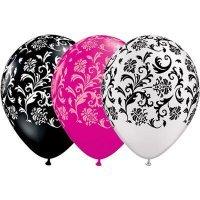 Воздушные шары с гелием Дамаск, ассорти для свадьбы или девичника 30см