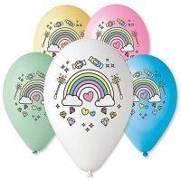 Воздушные шары с гелием радуга, единорог 30см