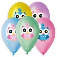 Воздушные шары с гелием совушка, сова, ассорти 36см