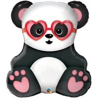 Гелиевый шарик Панда влюблённая 81см