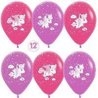 Воздушные шары с гелием Пони, Фуше, Сиреневый 30см