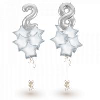 Фонтаны из шаров Неккар с цифрами на выбор