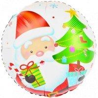 Круг из фольги «Санта с ёлкой» (46см.)