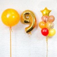 Композиция из воздушных шаров «Важная дата 9» №113 (Цифра на выбор)