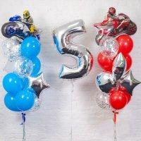 Композиция из шаров «День рождения Мальчика Мото» №126, цифра 5