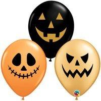 Воздушные шары с гелием Устрашающие тыквы хэллоуин №2, 36см