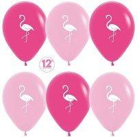 Воздушные шары с гелием с рисунком «Фламинго»