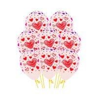 Воздушные шары с гелием с рисунком «Красные и синие сердца»