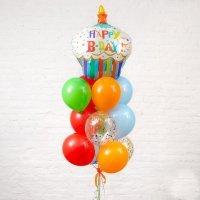 Композиция из воздушных шариков «Happy Birthday»