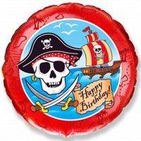 Круг из фольги «Пираты с Днём Рождения» (46см.)