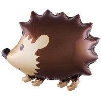 Фольгированный шар (22''/56 см) Фигура, Лесной ежик