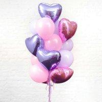 Композиция из воздушных шаров «Особые сердца» №38