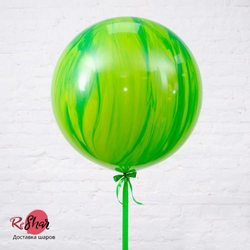 Шар гигант «№3» Зелёный 61см