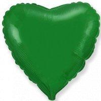Фольгированный шар сердце «Зелёный» (46см.)