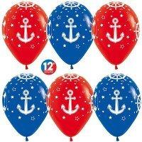 Воздушные шары с гелием с рисунком «Морская тематика» для мужчины