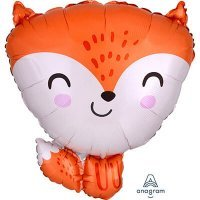 Воздушный шарик с гелием фигура лиса рыжая 45см