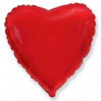 Шар сердце «красный» (46см.)