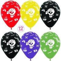 Воздушные шары с гелием с рисунком «Пиратская вечеринка»