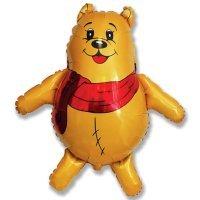 Фигура из Фольги «Медвежонок с красным шарфом» (84см.)