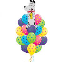 Фонтан из шаров детский с цифрой на выбор