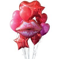 Композиция из шаров «Пламенная любовь»