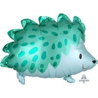 Воздушный шар с гелием фигура Ёжик зелёный 50см