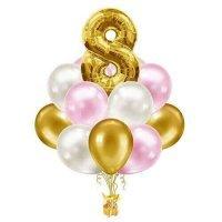 Композиция из гелиевых шаров «На день рождения» №888 (Цифра на выбор)