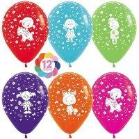 Воздушные шары с гелием с рисунком «Ассорти для девочки»