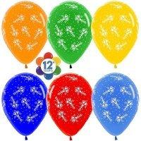 Воздушные шары с гелием с рисунком «Букеты цветов»