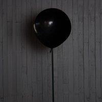 Большие чёрные шары 50см