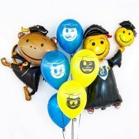 Композиция с фольгированными шарами на Выпускной №1002